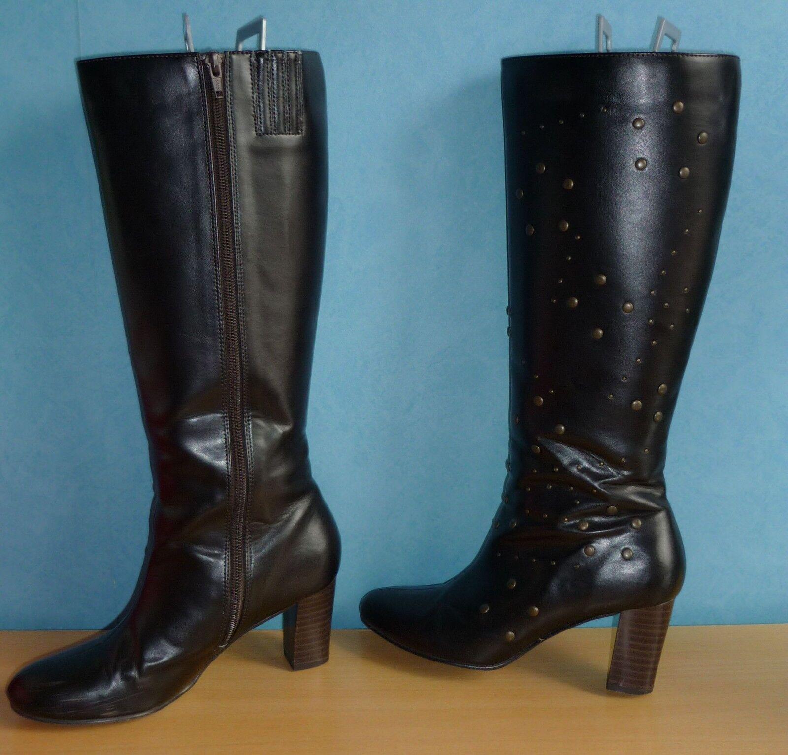 Donkerbruine Laarzen met spijkers Maat 37