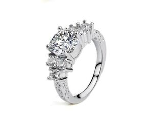 Pave-1-5-Ct-CZ-925-Sterling-Silver-Engagement-Promise-Solitaire-Ring-RS61