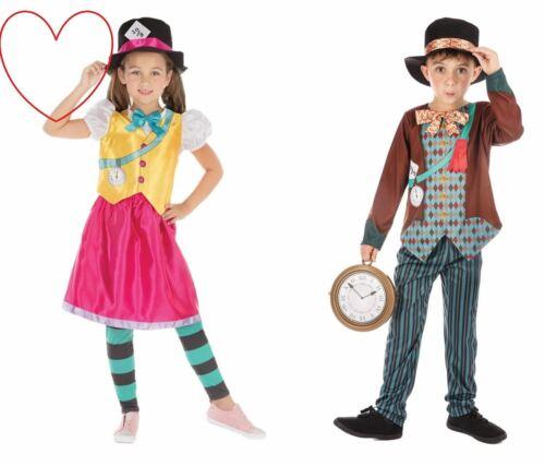 Mad Hatter Fancy Dress Costume Girls Boys Children Book Week