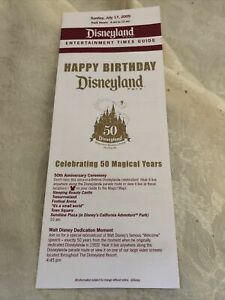 Disneyland 50th Anniv. July 17, 2005 Entertainment Happy Birthday Guide - #1