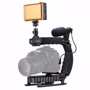 Steady-Cam-U-Grip-C-shaped-Adapter-Hand-Grip-Camera-DSLR-Stabilizer-Bracket