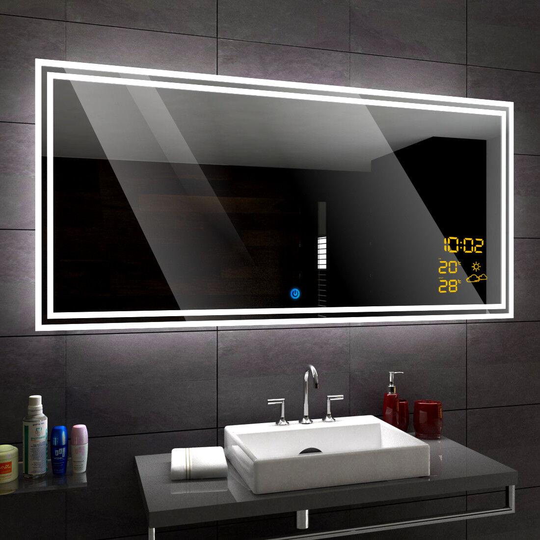 WIEDEN Lumineux LED Bain Miroir De La Salle mural   Interrupteur Accessoires