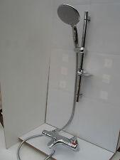 THERMOSTATIC DECK MOUNTED BATH SHOWER TAPS, LGE HANDHELD RAIL SHOWER SET 332/352