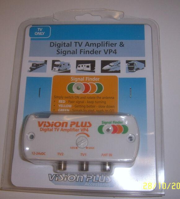 Vision Plus VP4 Digital Amplifier & Signal Finder 4 Caravan Television Aerial TV