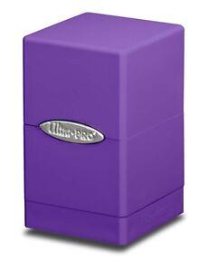Ultra-Pro-Satin-Tower-Deck-Box-Purple-New