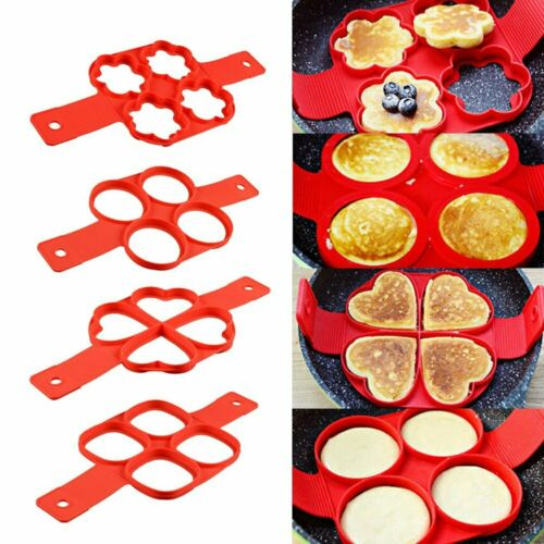 Nonstick Pancake Cooking Tool Egg Ring Maker Egg Cooker Pan Flip Egg Mold Tool X