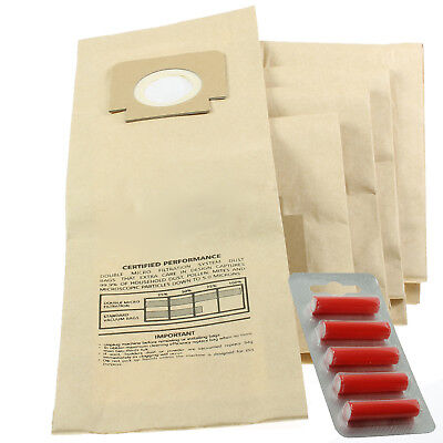 5 x Replacement Dust Bags For Hoover Turbopower 2 U2107 Type:H18