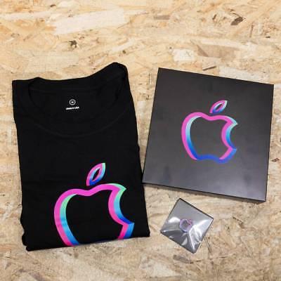 Apple Store Shibuya Renewal Opening Limited Memorial T shirt /& Magnet Badge