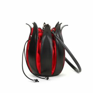 red By Tulip Designer lin Leather Handbag Black qwFRPY