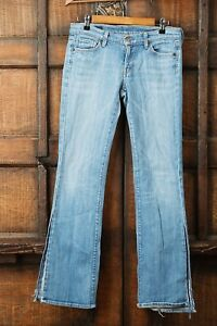 Citizens-of-Humanity-Kelly-001-Stretch-Low-Rise-Bootcut-Size-29-Split-Leg-Jeans