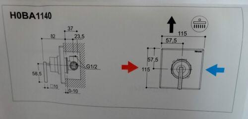 Ritmonio Einhebelmischer Waterblade H0BA1140 Unterputzmischer Mixer verchromt