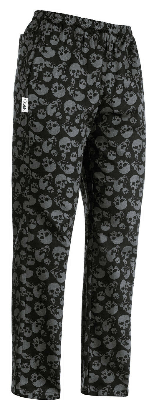 TROUSERS COOK CHEF PIZZA CHEF EGOCHEF MADE IN ITALY MODEL SKULLS
