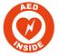 thumbnail 3 - AED Inside Circle Emblem Vinyl Decal Window Sticker Car