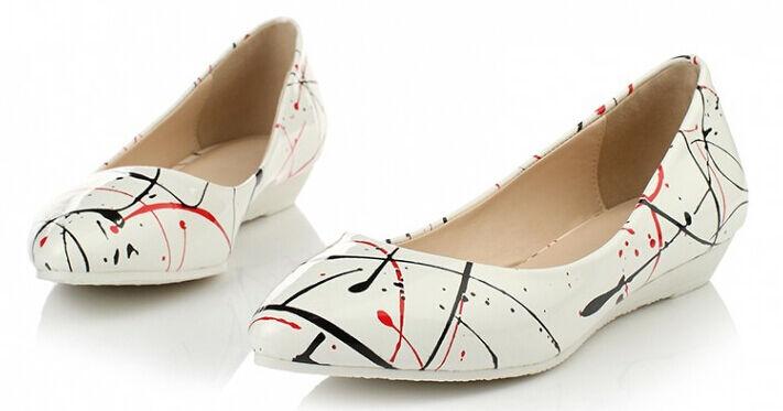 Bailarinas mocasines mujer  Zapatos  de mujer mocasines pan de la tierra blanco de colores talón 2 9f65f7