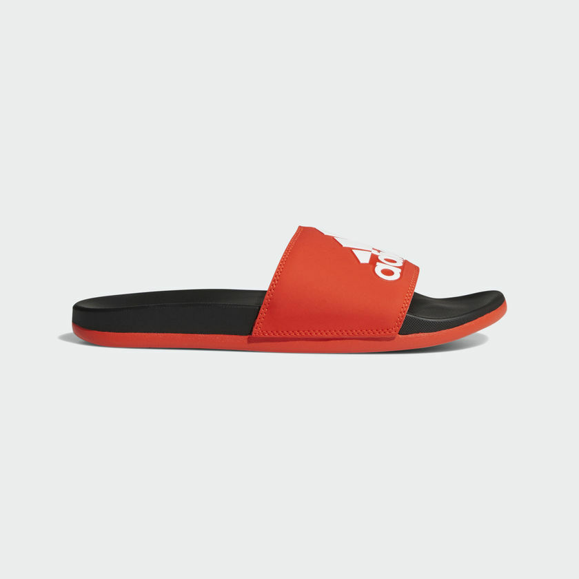 ADIDAS ADILETTE CLOUDFOAM PLUS LOGO Mens Sandals Slippers Slides F34722 red