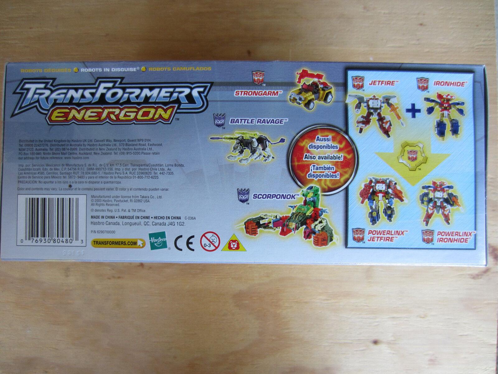 Transformers Voyager Energon Jetfire, Comic Book & Collector Collector Collector Card Included MISB be13c3