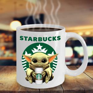 Starbucks Baby Yoda Star Wars Cute Yoda STARBUCKS Fan Coffee Mug Gift
