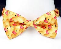 Rubber Duckies Mens Bow Tie Adjustable Fun Fashion Necktie Yellow Duck Gift