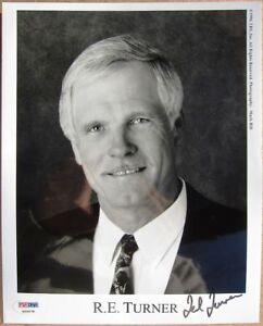 Ted Turner signed 8x10 photo Braves Owner PSA/DNA autographed