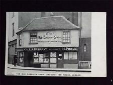 OLD POSTCARD OF THE OLD CURIOSITY SHOP, LINCOLN'S INN FIELDS  LONDON - UNUSED