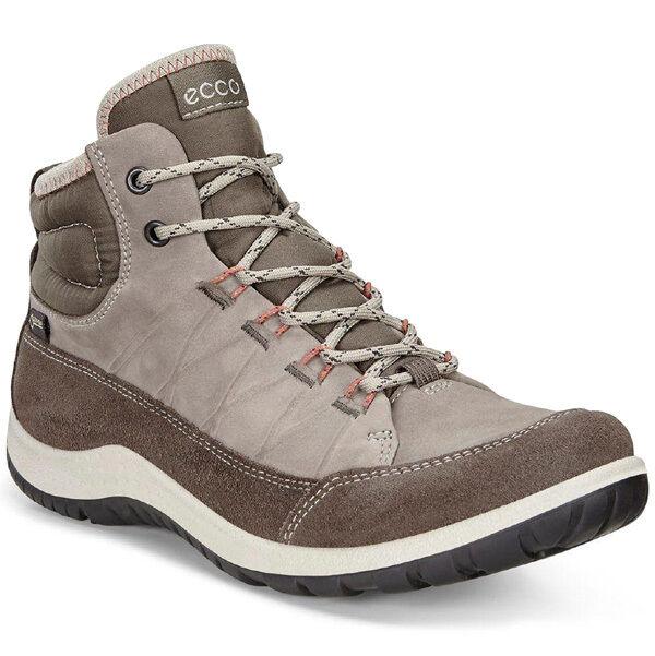 Ecco aspina mid Ladies Boots outdoor Gore-Tex zapatos Dark Clay Grey 838513-56610