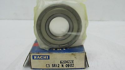 Qt.10 6204-ZZE C3 NACHI bearing 6204-ZZE metal shield 6204-2Z bearings 6204 ZZ