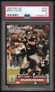 1991-Pro-Set-Brett-Favre-Atlanta-Falcons-Packers-762-RC-PSA-9-MINT-Rookie-Card