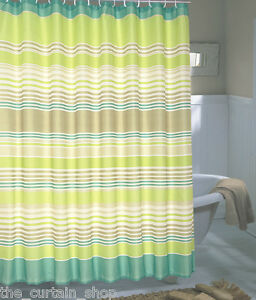 Image Is Loading Brighton Extra Wide Printed Fabric Shower Curtain 108