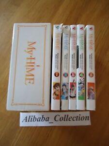 Lotto-Manga-My-Hime-1-2-3-4-5-VF-Cofanetto-Kimura-Sato-Completo-Integrale