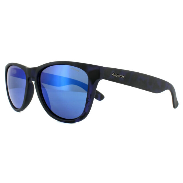 1d7d68797c Polaroid Sunglasses P8443 FLL JY Matt Blue Pattern Blue Mirror Polarized