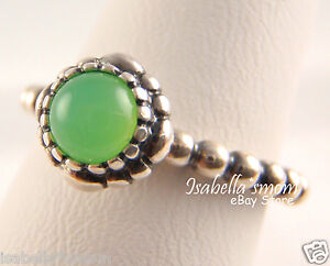 56eac33b0 Image is loading MAY-BIRTHDAY-BLOOMS-Genuine-PANDORA-Silver -GREEN-CHRYSOPRASE-