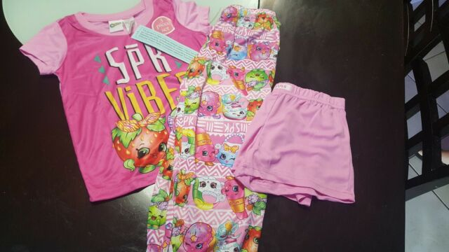 Shopkins  Girls 2 piece Long Sleeve  Shirt Outfits  Sizes-4-5 or 6-6X NWT