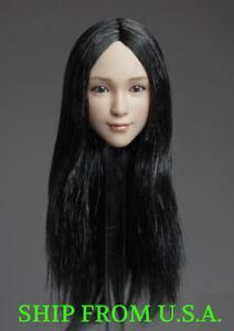 "1//6 Beauty head sculpt GC018 A for 12/"" female figure Phicen Kumik hot toys ❶USA❶"