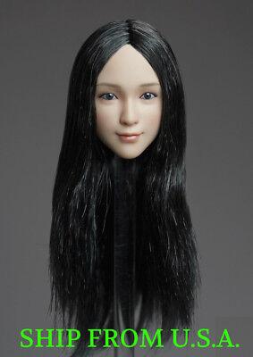 "KUMIK 1//6 Hair Wig 2.5 BLACK CURVE For 12/"" Female Head Sculpt ❶USA❶"