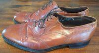 Florsheim Imperial 5 Nail Wingtip Longwing 11 D Brown Oxford Shoes Med Vintage