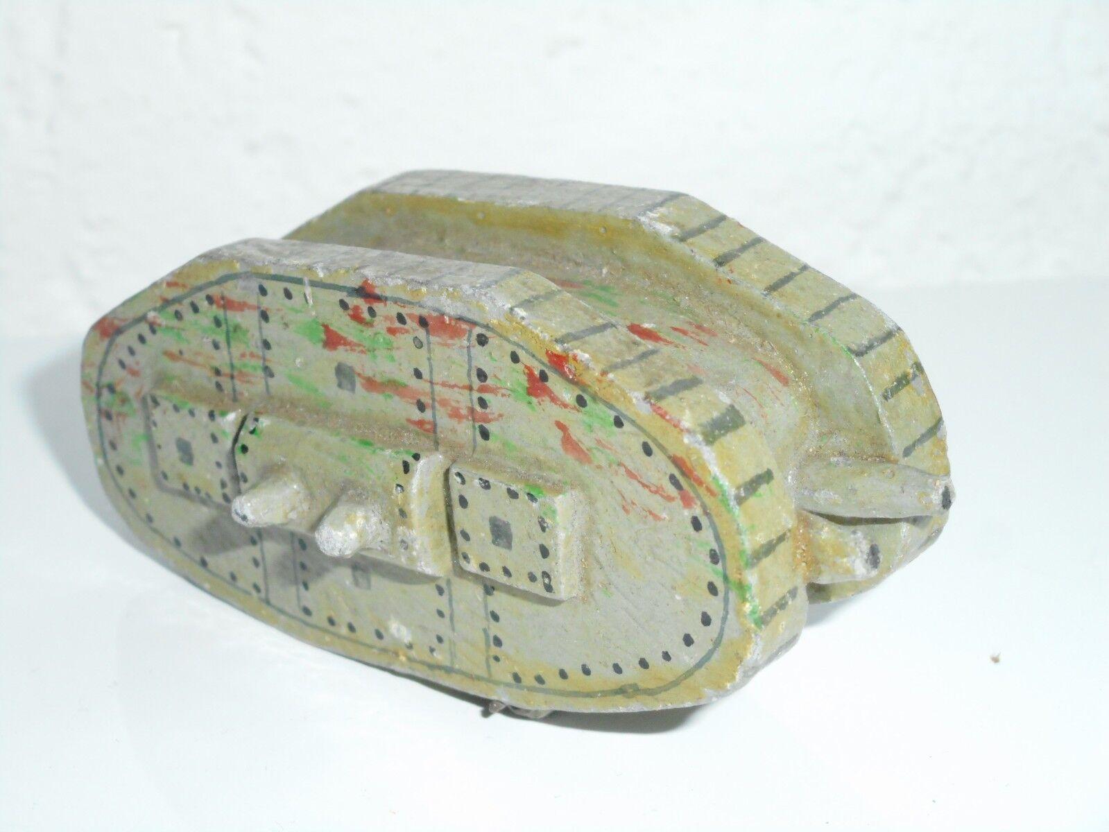 gerFemmey 1900 penny toys bois peint  char d'assaut 8 8 8 cm d088a1
