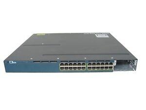 Cisco-WS-C3560X-24P-L-24-Port-Gigabit-PoE-Switch-w-AC-Power-1-Year-Warranty