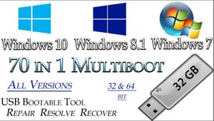 WINDOWS-10-8-7-ALL-VERSIONS-Multi-Boot-32GB-USB-32-64bit-INSTALL-Software