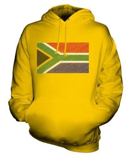 SOUTH AFRICA SCRIBBLE FLAG UNISEX HOODIE TOP GIFT SUID-AFRIKA AFRICAN