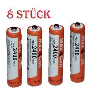 8 x AAA MICRO NI-MH AKKU 1,2V 2400 mAh Wiederaufladbar Batterien Akku aufladbar