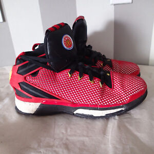 Adidas-Derrick-Rose-McDonalds-American-Basketball-Red-Mesh-Shoes-Sz-11-men-jk