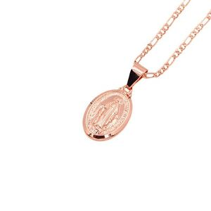 95b653afba0 Image is loading Women-Catholic-Religious-Virgin-Mary-Rose-Gold-Plated-
