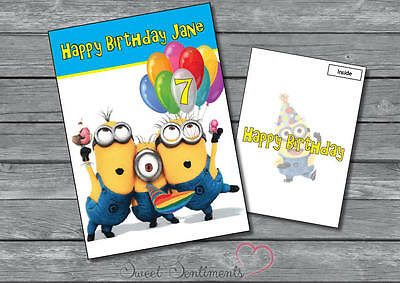 Personalised Minions Despicable Me  Birthday Card Style 3