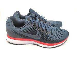 12bf75da371c1 Nike Mens Air Zoom Pegasus 34 Blue Black Bright Crimson 34880555-403 ...