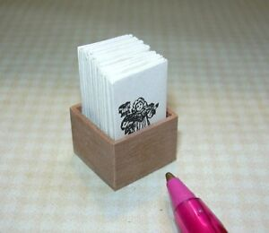 Miniature-Chandronnait-Wood-Box-of-Patterns-DOLLHOUSE-Miniatures-1-12-Scale