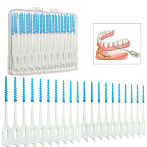 40Pcs-Soft-Picks-Rubber-Bristles-Tooth-Pick-Dental-Brush-Clean-Oral-Care-n-HG