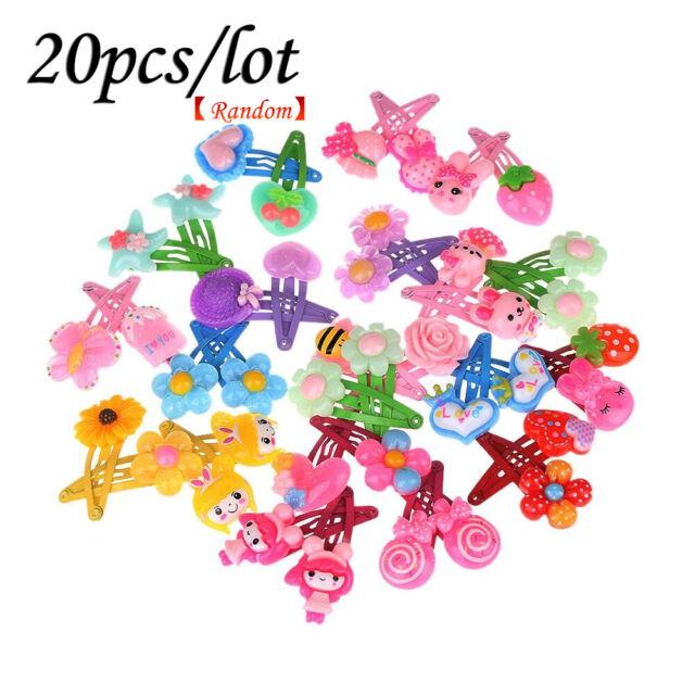 20pcs Cute Kids Cartoon Flower Baby Girls HairPin Hair Clips Toddlers Jewellery