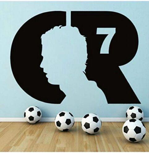 Likeai Football Wall Decals Cristiano Ronaldo Football Player Wall Stickers Boys