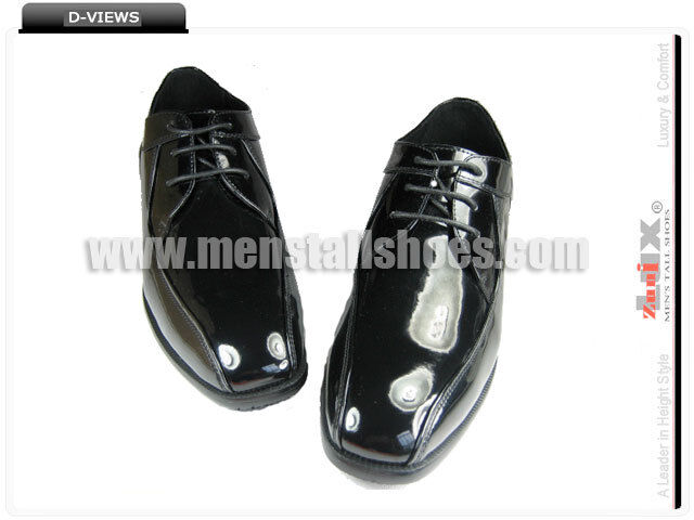 db1234e6a1f Height Increasing Tuxedo shoes With Hidden Heels for Groom
