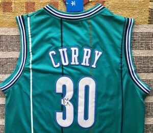 more photos 36b5c 0ad77 Details about Dell Curry Signed Autograph Charlotte Hornets Jersey NBA USA